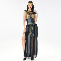 Gold / Black PVC & Mesh Athena Greek Goddess Costume Halloween Cleopatra Egyptian Princess Costumes For Role Playing Masquerade