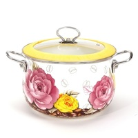 casserole 6 litre thick enamel soup pot stainless steel hands sauceboxes luxury cooking utensil pot induction cooker work
