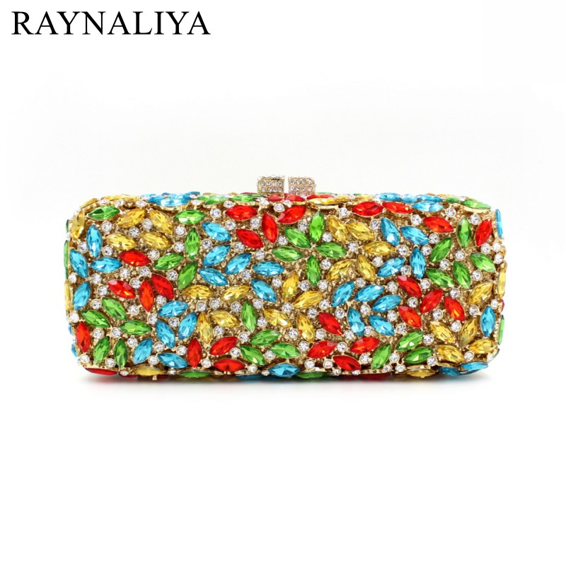 European And American Style Women Evening Bags Ladies Wedding Party Clutch Bag Crystal Diamonds Purses Day Clutches Smyzh-f0106