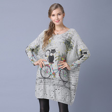 2018 New Knit Sweater Women Knitted Jersey with Long Sleeve Oversized Korean Crop Top Jacket