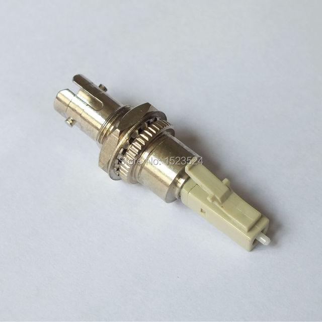 Бесплатная доставка ST женщиной , sm58-lc мужской ST-LC многорежимный 50 / 125um оптоволоконный адаптер гибридного адаптер адаптер