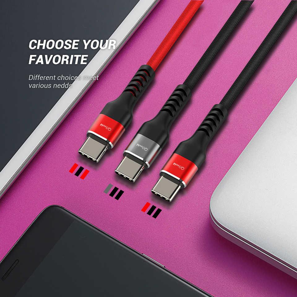 QGEEM USB نوع C كابل USB-C الهاتف المحمول شحن سريع USB كابل الشاحن لسامسونج غالاكسي S9 هواوي ماتي 20 شاومي USB Type-C