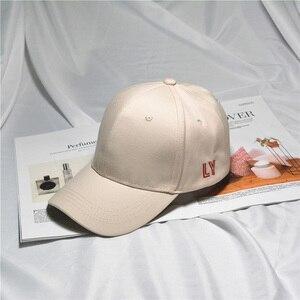 Image 5 - Kpop コンサート同じ綿キャップ LY 刺繍トップ品質弾性キャップファッションヒップポップ帽子