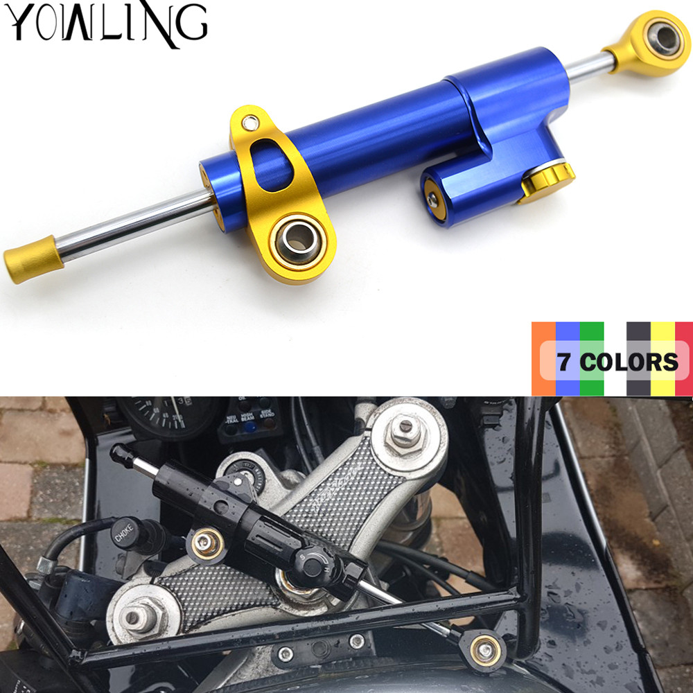 Universal Aluminum Motorcycle CNC Steering Damper For yamaha fz6 fazer fz6r fz8/xj6 diversion fz1 fazer mt-/fz-mt-09/sr/fz9 motorcycle adjustable cnc aluminum brakes clutch levers set motorbike brake for yamaha fz1 fazer 2006 2013 xj6 diversion 09 15