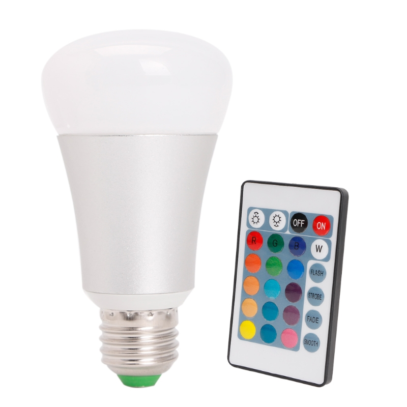 Smart APP WIFI LED light Bulb RGBW light Alarm Clock +24key Remote Control E27