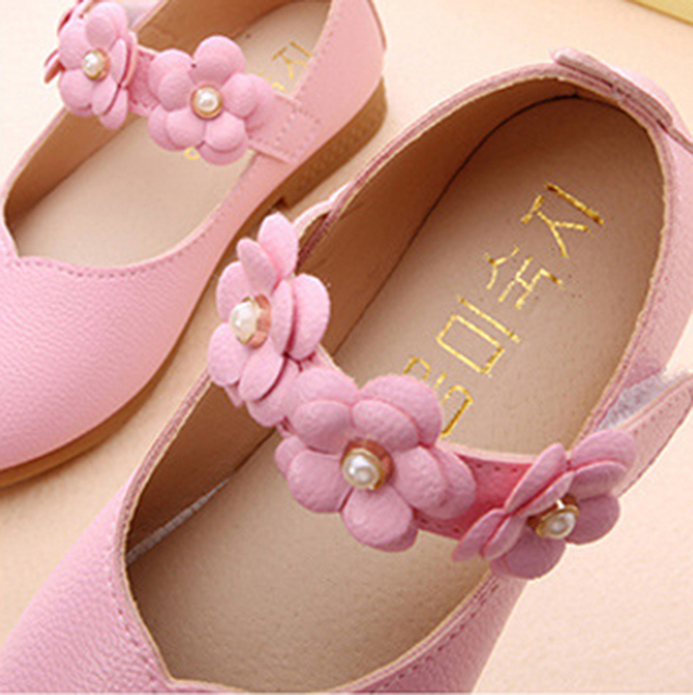 White Pink Kids Toddler Flower Children Girls Wedding Party Dress Princess Leather Shoes For Teens Girls Dance Shoes New