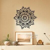Mandala Wall Sticker Modern Yoga Wall Decal DIY Indian Wall Decors Removable Easy Wall Art Cut Vinyl Stickers M35
