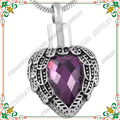 CMJ8719 VALYRIA Angel Wing Birthstone Memorial Charms Necklace women Stainless Steel Fashion Jewelry colar feminino