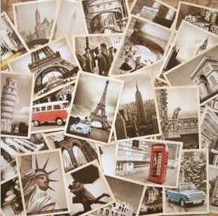 7 упаковок/партия, открытки для студентов, 32 шт./компл., Новая Винтажная архитектурная дорожная открытка с пейзажем, Набор открыток, поздравительная открытка, Подарочная открытка