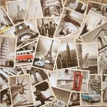 7Packs/Lot Studenten Diy Kaarten 32 Stks/set Nieuwe Vintage Architectuurlandschap Travel Card Set Postkaart Set Wenskaart gift Card