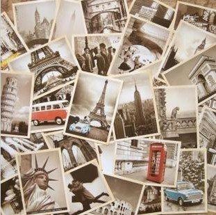 7packs/lot Students DIY Cards 32Pcs/set NEW Vintage architectural landscape travel card set Postcard set Greeting Card Gift Card