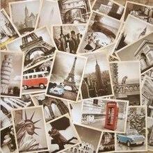 Travel-Card-Set Architectural Vintage Landscape Students 7packs/Lot NEW