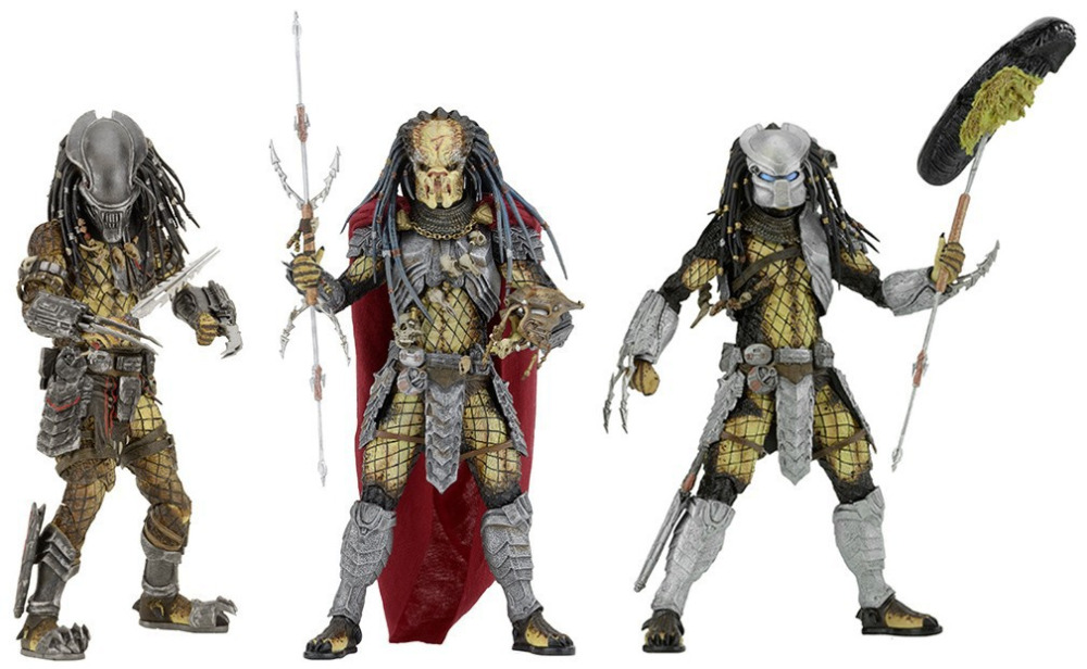 ALEN NECA AVP Aliens vs. Predator Young Blood Predator / Serpent Hunter /Elder Predator PVC Action Figure Collectible Model Toy фигурка alien vs predator series 17 serpent hunter 17 см