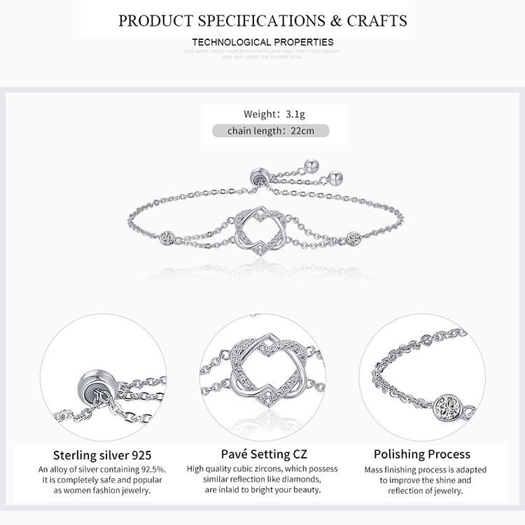 HTB1otqTcLJNTKJjSspoq6A6mpXaM 925 Sterling Silver Sparkling Tennis Bracelet Chain Strand Bracelets for Women Luxury Original Sterling Silver Jewelry GXB029