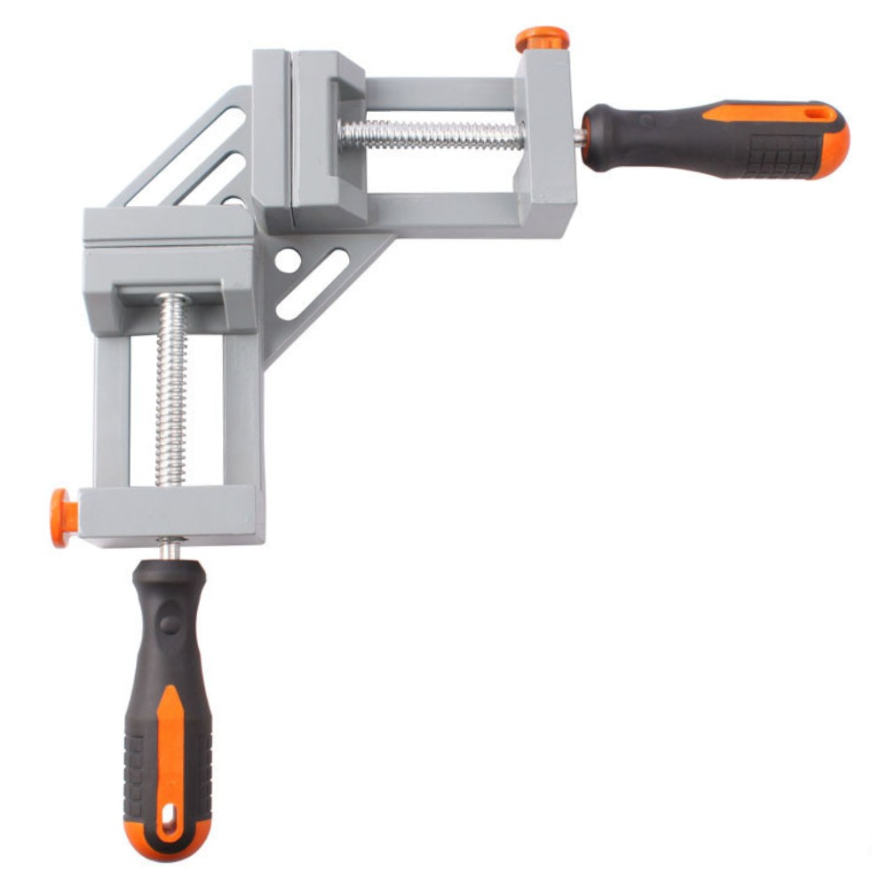 New Double Handle 90 Degrees Angle Clamp Right Angle Woodworking Frame Clamp Angle Clip Clamp Aluminum Alloy Frame Free Shipping ninth world new single handlealuminum 90 degree right angle clamp angle clamp woodworking frame clip right angle folder tool