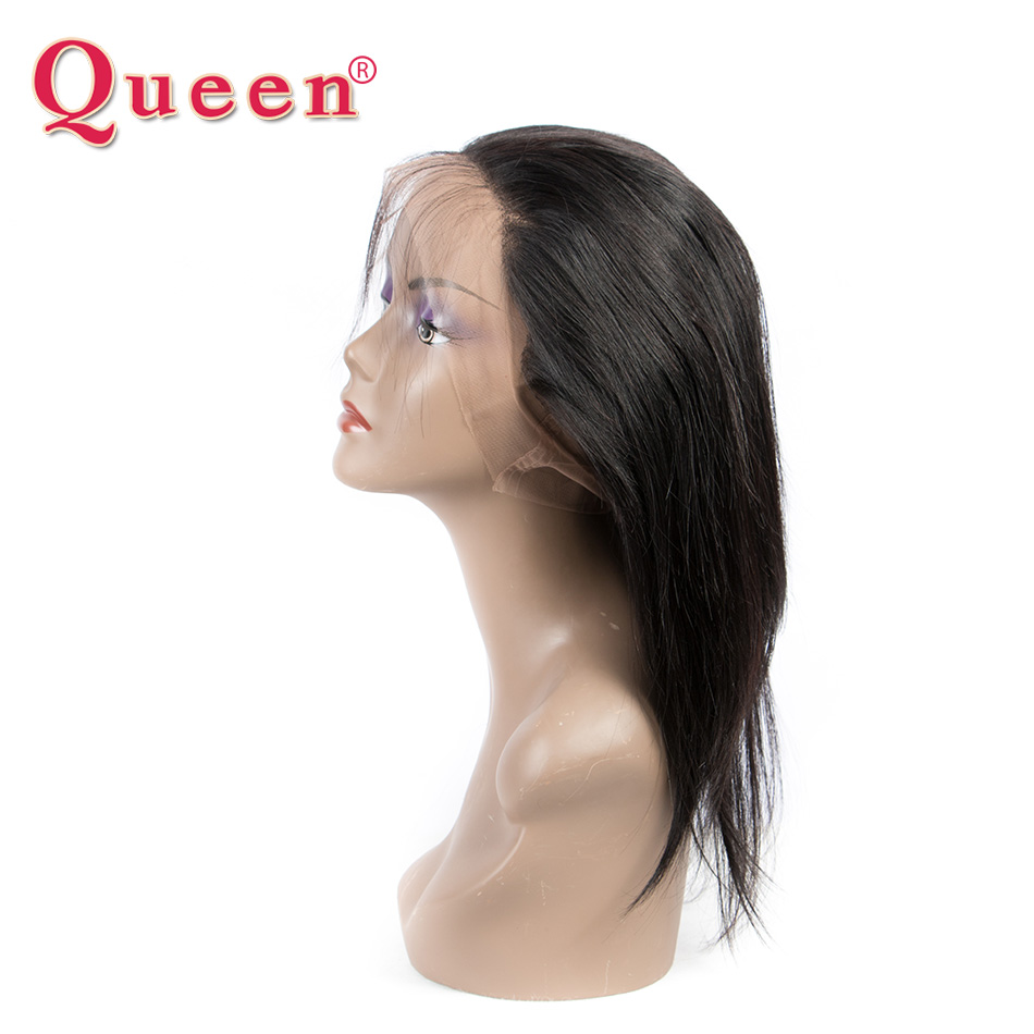 Queen Hair Products Brazilian Straight Hair Weave Bundles Remy Human Hair Bundles 360 Lace Frontal Closure