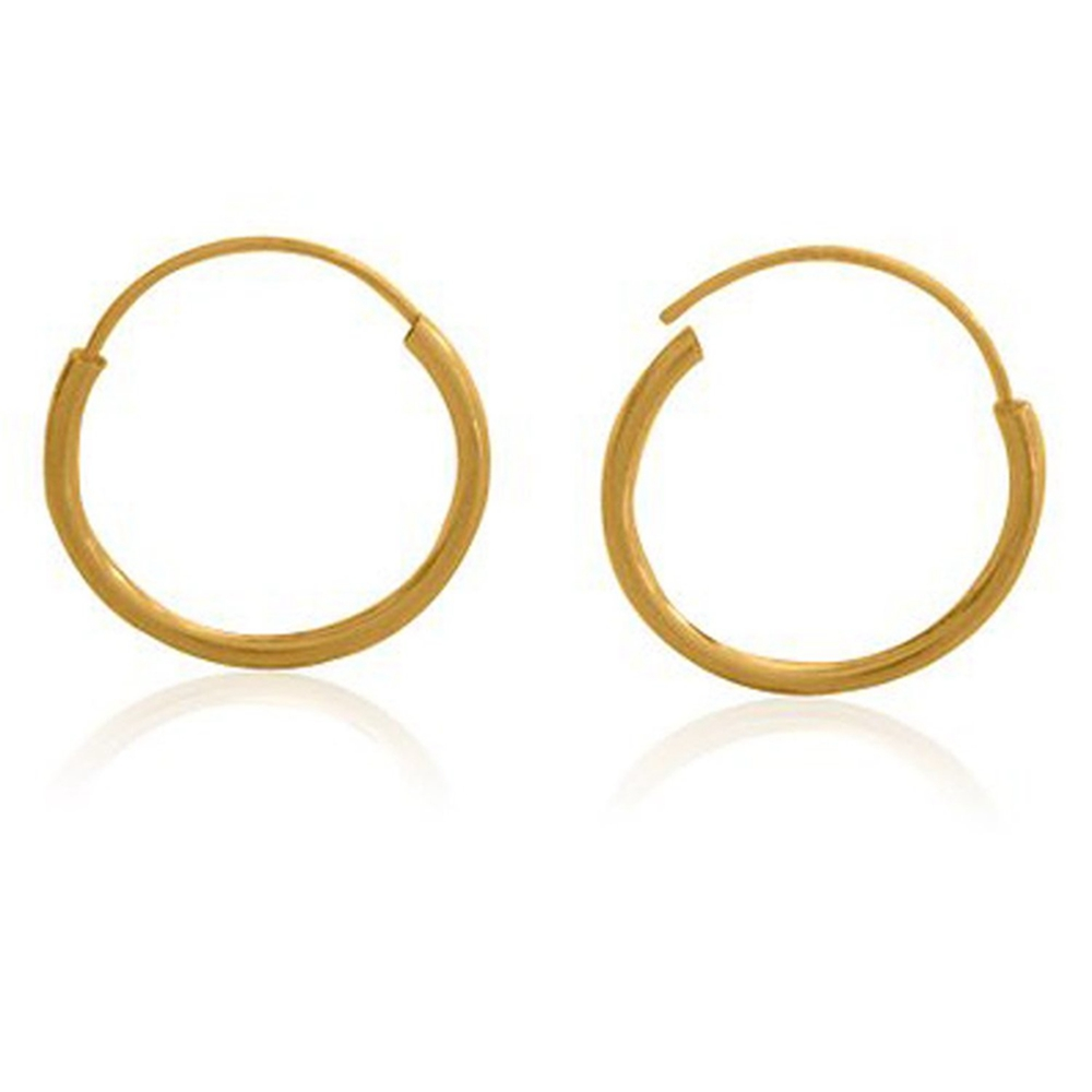 Online Shop Gold Filled Small Endless Hoop Earrings For Mens Womens 20mm   Aliexpress Mobile