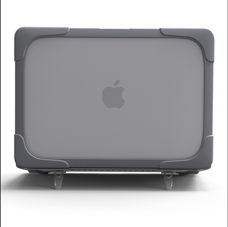 huge discount 84c90 84b3e US $29.99 25% OFF|Newest Design Shockproof HardShell Case with Stand for  MacBook air 11 13 Pro 13 15 Retina 12 13 15 Plastic & TPU Snap On Case-in  ...