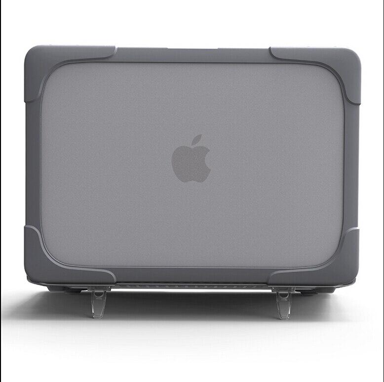 Più nuovo Disegno Antiurto Custodia rigida con Supporto per MacBook air 11 13 Pro 13 15 Retina 12 13 15 di Plastica e di TPU Snap On Caso