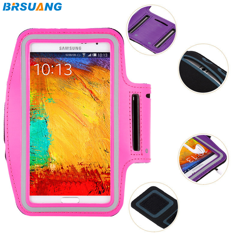 500pcslot BRSUANG 6.3 inch Waterproof Phone Case Sports Armband Jogging Running Brassard For Samsung A9star Huawei P20 Xiaomi 8
