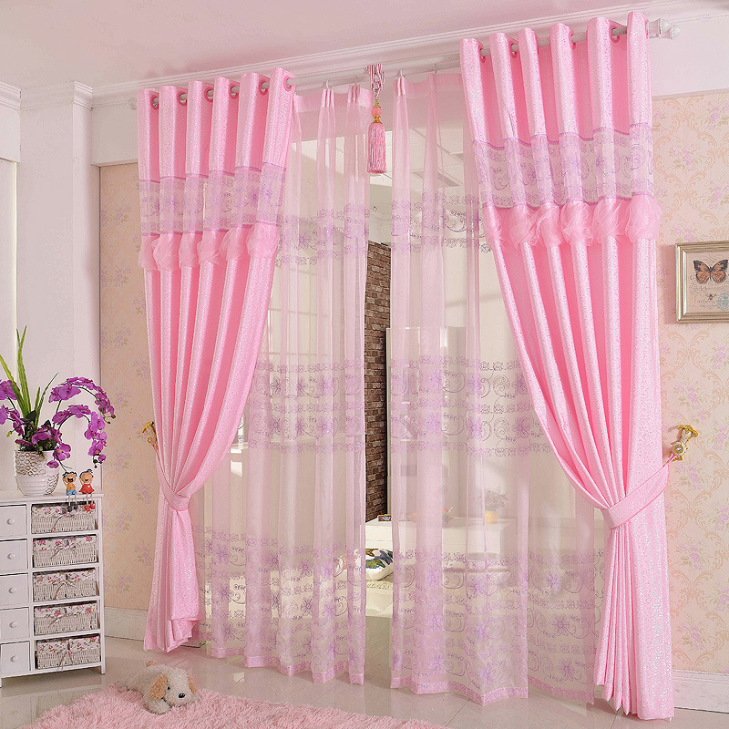 1 Pc 2017 New Curtains for Windows Drapes European Modern Romantic Embroidered Shade Curtain for Living Room Bedroom