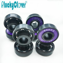 8pc Extended inner race bearing 608 Skateboard Bearing with Integrated Spacer ABEC9 Hoverboard Waveboard Longboard wheel Bearing