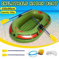150x90cm/190x120cm Single Double Two Person Inflatable Boat Kayak Rubber Boat With Pump Ropes Outdoor Fishing Rowing Watersports