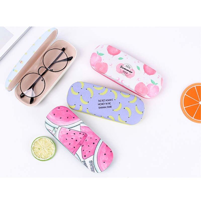 Fast Deliver Protable Fruit Sunglasses Hard Eye Glasses Case Eyewear Protector Box Pouch Bag Candy Color Holder F05 Eyewear Accessories