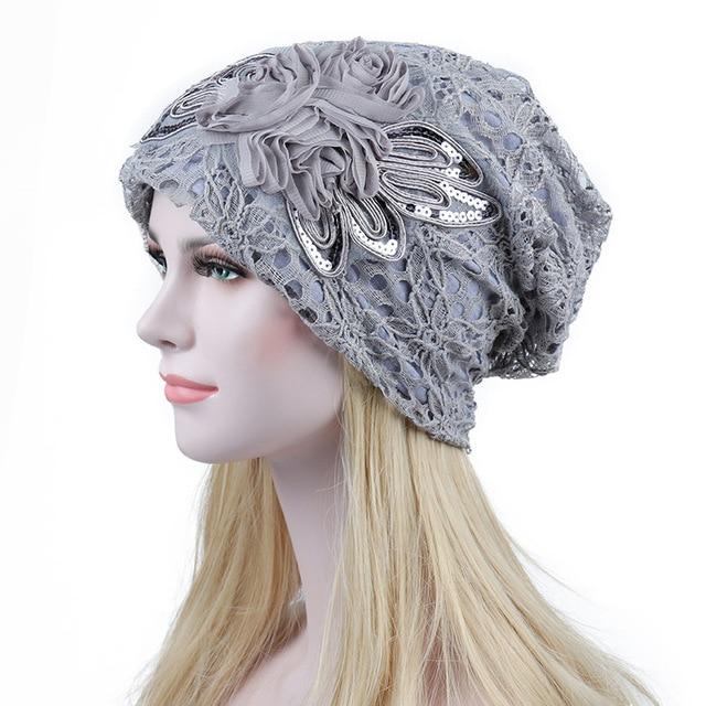 Turban Hats For Women Fashion Flower Female Stylish Butterfly Beanies Hat 3