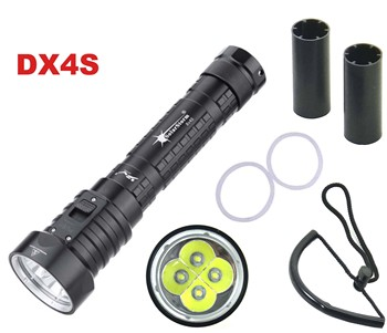 Solarstorm DX4S LED צלילה פנס 4x * L2 4L2 מתחת למים 18650 26650 לפיד בהירות עמיד למים 100m אור Led לפיד