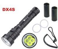 Solarstorm DX4S LED Diving Flashlight 4x CREE L2 4L2 Underwater 18650 26650 Torch Brightness Waterproof 100m