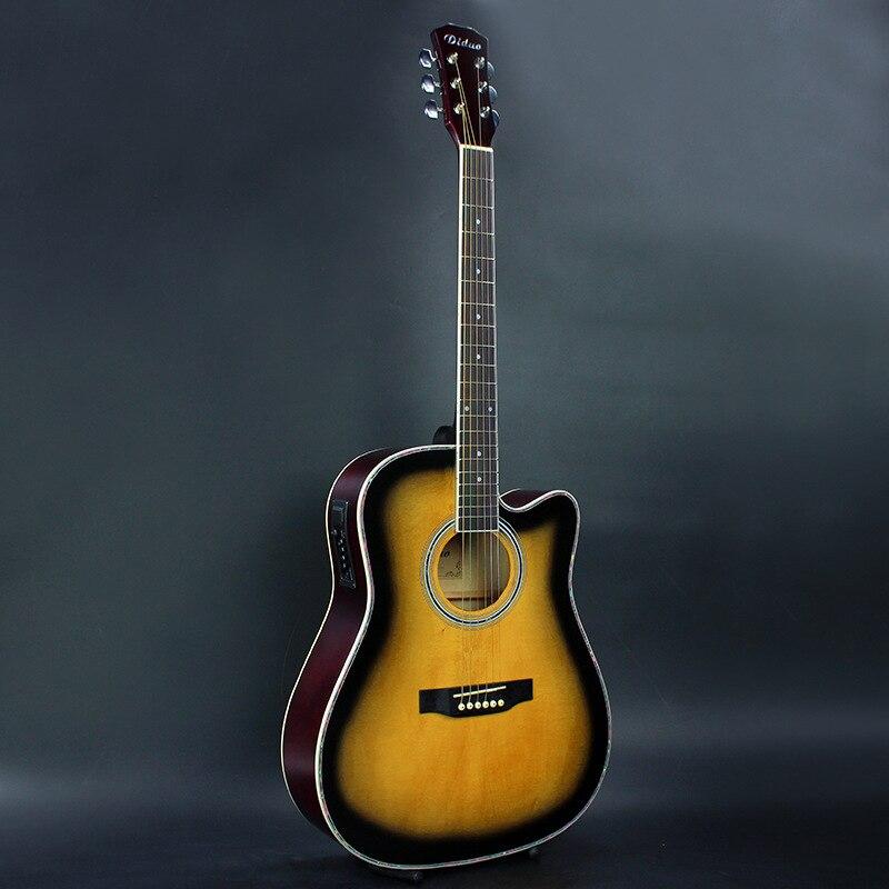 Diduo 41 дюймов в народном стиле Гитары акустической Гитары липа Гитары отличное качество и низкая цена закат Цвет