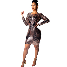 new womens sequin dress night club sexy long sleeve fashion check