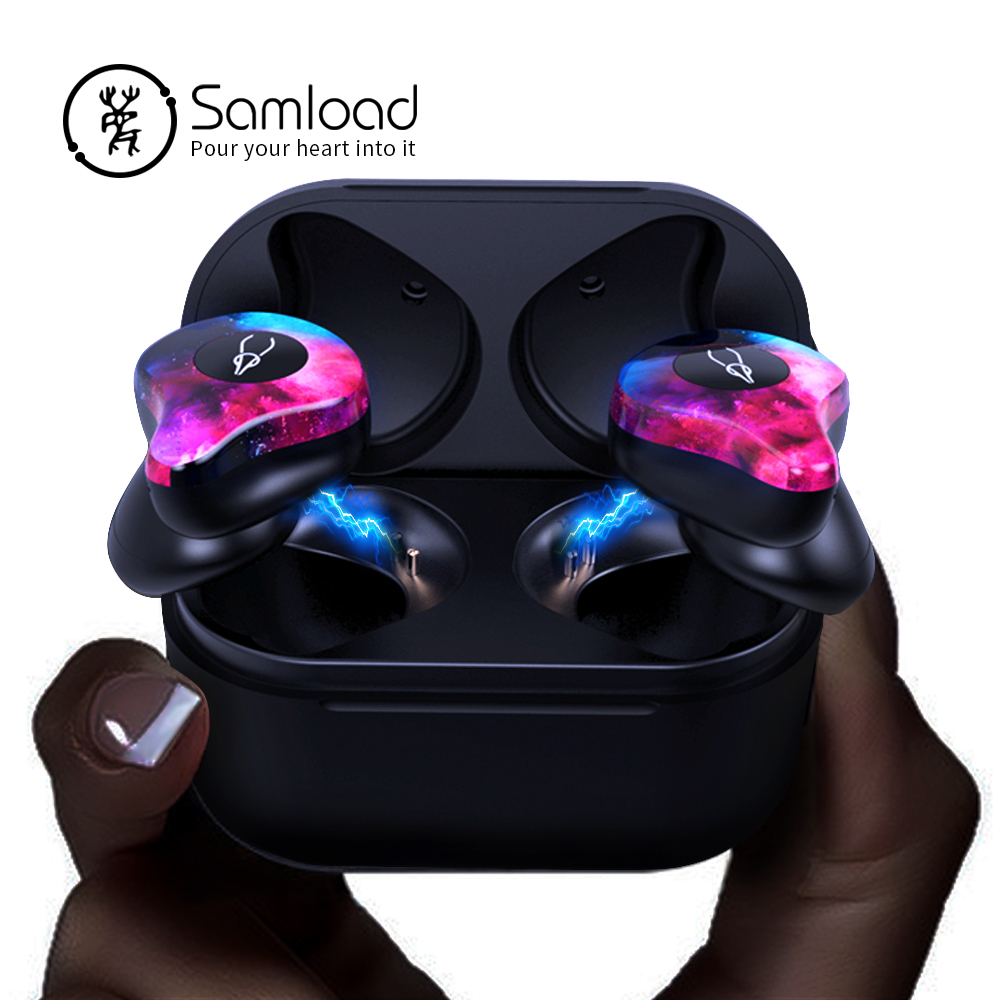 Samload X12pro Bluetooth 5 0 Earphones Fashion Color Wireless headphones stereo in ear Earbuds For Apple