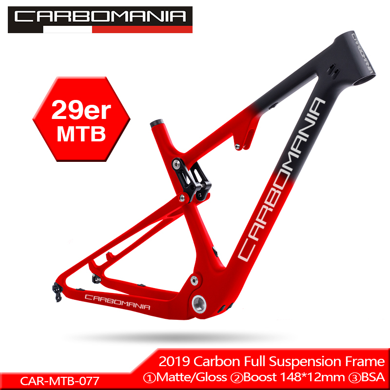 T800 Carbon Mtb Frame 29er BOOST Full Suspension Carbon Frame 29 Carbon Mountain Bike Frame 142*12 Or 135*9mm Bicycle Frame