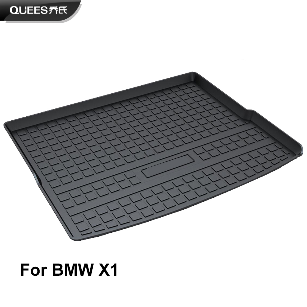 QUEES Custom Fit Cargo Liner Boot Tray Trunk Floor Mat for BMW X1 E84 F48 2009 2010 2011 2012 2013 2014 2015 2016 2017 2018 2019