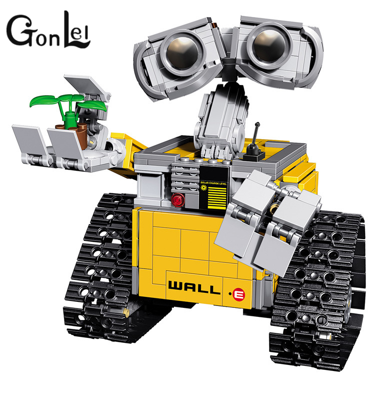 GonLeI LELE 39023 Assemble Sets Idea Robot WALL E Building Model Kits Building Blocks Single Sale Bricks Action Kids Toys цена 2017