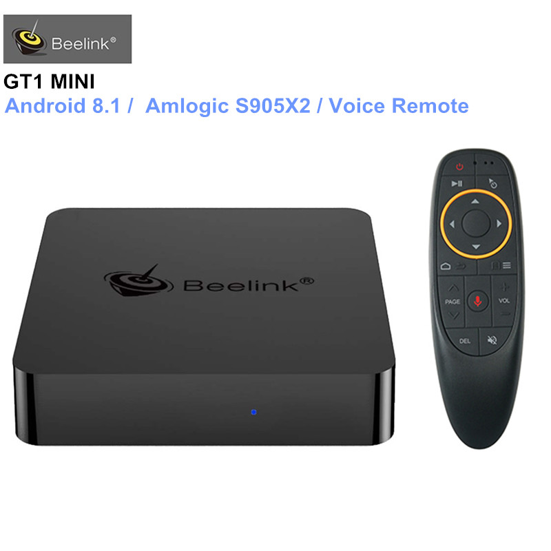 Beelink GT1 MINI Smart TV Box Android 8.1 Amlogic S905X2 Vocale Telecomando Set-top Box 4 K Set Top box Media Player