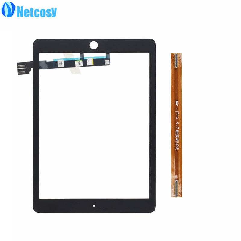 Netcosy Black/White Touch screen digitizer glass panel repair For ipad pro 9.7 tablet touch panel & TP extended test flex cable