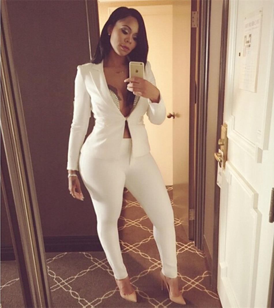 Online Get Cheap White 2 Piece Pants Outfits -Aliexpress.com ...
