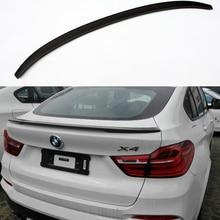 X4 F26 Rendimiento Estilo Matt Carbon Fiber Auto Car Rear Trunk Spoiler Wing para BMW X4 F26 2014-2015