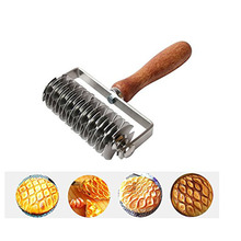 Stainless Steel Pasta Roller Wooden Handle Pizza Cutter Pie Dough Handy Cutters Pastry Tools Kitchen Gadgets For Cooking