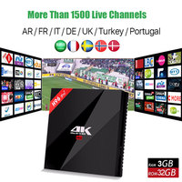 Best French Arabic Spain Turkish IPTV With H96 Pro Android 7 1 Smart Tv Box Amlogic