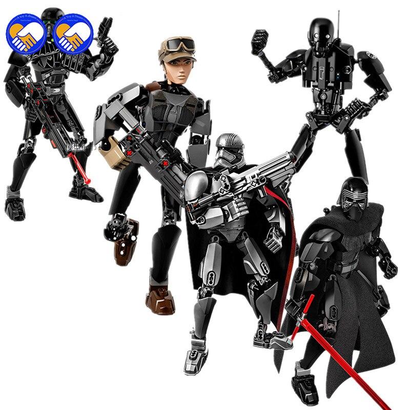 Un juguete un sueño: las guerras de la historia de Luke Skywalker Kylo Ren Obi Wan bloques de construcción ladrillos Legoingly