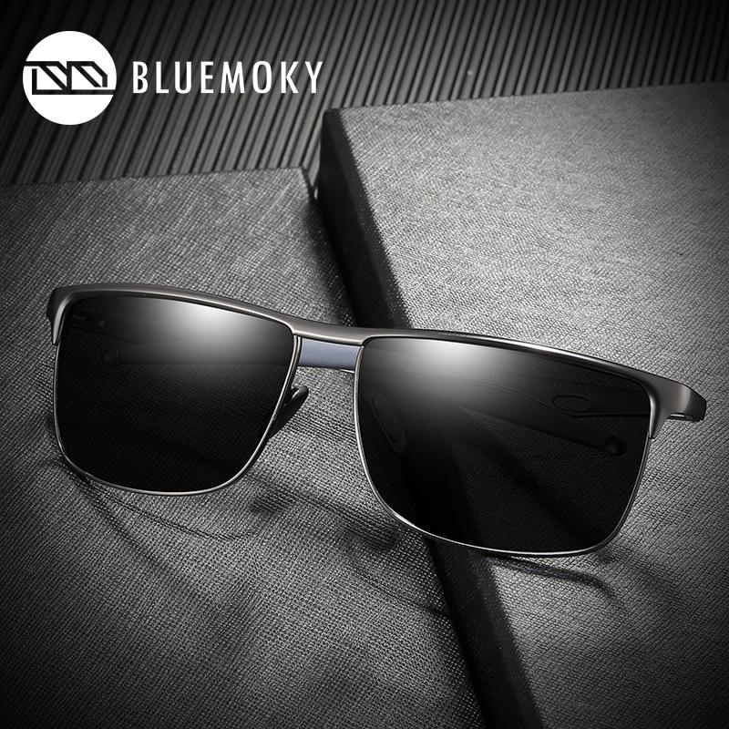 BLUEMOKY Aluminum Prescription Sunglasses Men Polarized UV400 Optics Myopia Sun Glasses For Men Sports Prescription Eyewear