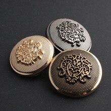 Retro Metal Button Antique Brass Copper Jeans Coat Jacket Clothes Decorative Buckle Sewing 200 pcs/lot