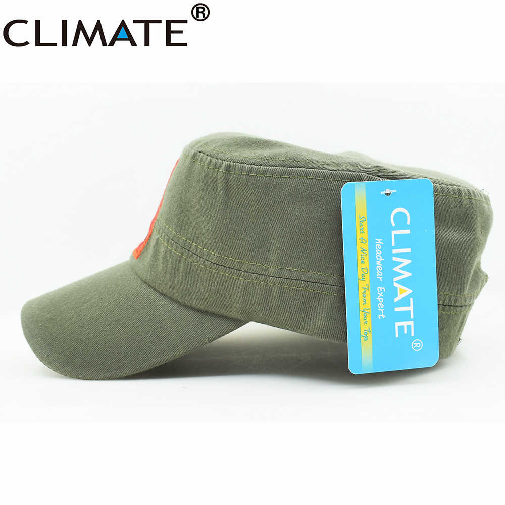 Climate New Men Army Military Caps Chinese Chairman Mao Zedong Cap Green Flat Top