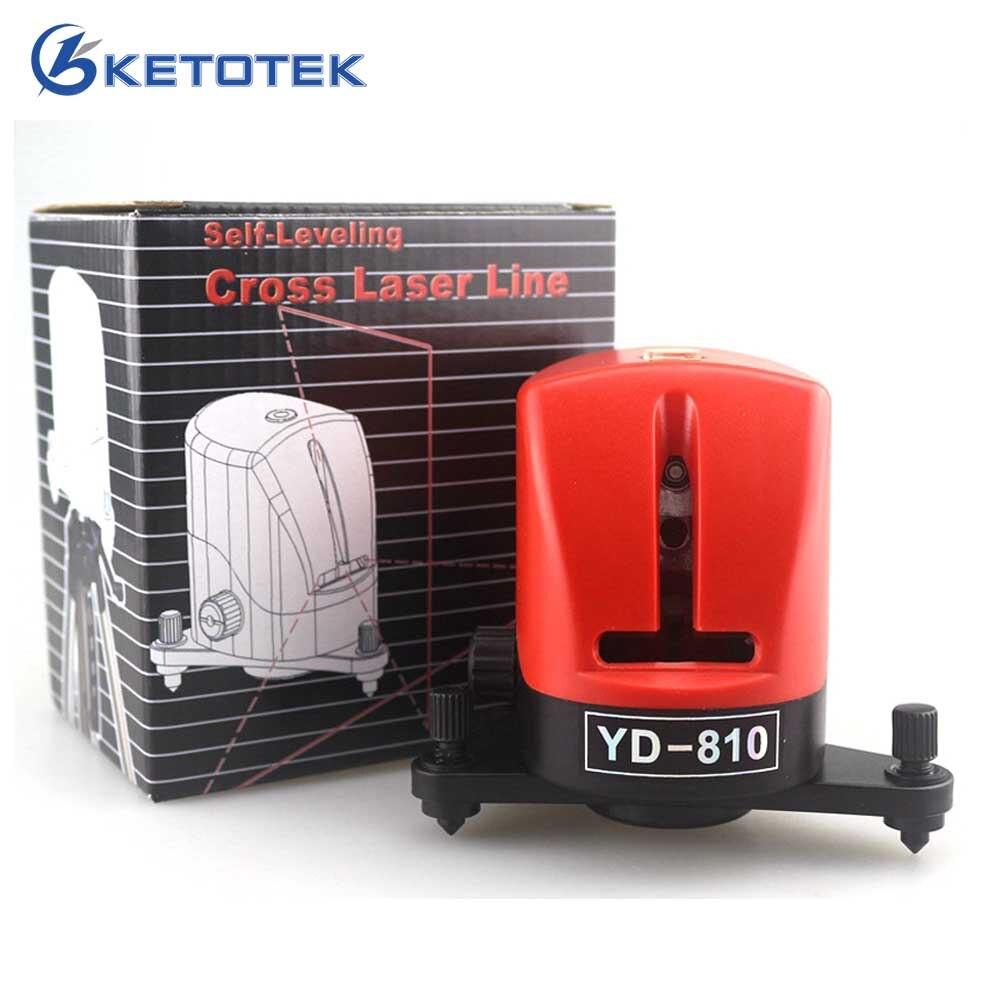 YD-810 2 Croix Rouge Laser Niveau 360 Auto-nivellement Outils De Mesure Horizontale Et Verticale