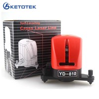 YD 810 2 Cross Red Laser Level 360 Self leveling Measuring Tools Horizontal And Vertical