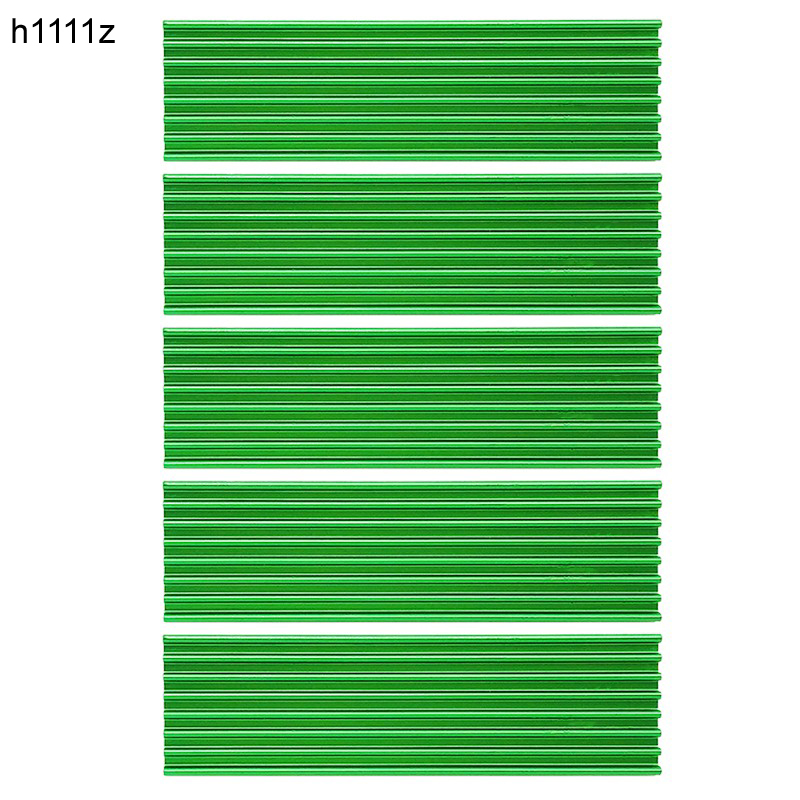 5PCS M.2 Heatsink SSD Aluminum Alloy Dissipation Radiator Cooling Heat Sink Thermal Pads For M.2 NGFF 2280 PCI-E NVME SSD Green